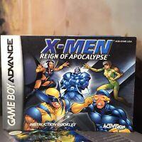 Nintendo Game Boy Advence X-Men Reign of Apocalypse Instruction Booklet/Manual