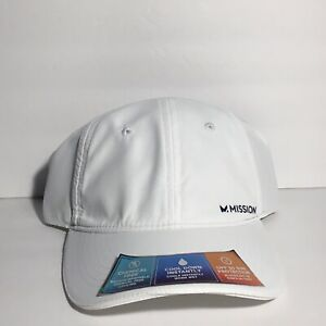 NEW NWT Mission Performance Instant Cooling Hat White UPH 50 Sun Protection Read