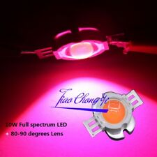 10w Power Full Spectrum 380 840nm Led 90 Degree Len Plant Grow 1pcs