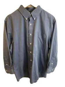 Ralph Lauren mens button up long sleeve slim fit collared business shirt 32/33