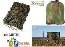 RETE MIMETICA CAMOUFLAGE CACCIA PESCA BIRDWATCHING WILD WATCHING 4X5 M RIBILAND