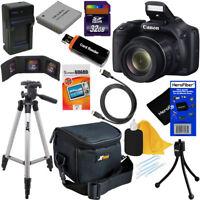 Canon Powershot SX530 HS 16MP Digital Camera w/50x Zoom+ NB-6L Battery +32GB Kit