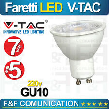 LAMPADINE LED V-Tac GU10 da 3 a 7W Lampada COB Spot Porta Faretto Incasso Dimmer