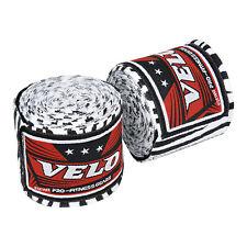 VELO Hand Wraps Bandages Boxing Inner Gloves Muay Thai MMA Cotton White Zebra