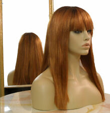 Forever Young Straight Edgy Heat Safe Wig (Ombre Color Autumn Haze) Auburn Red