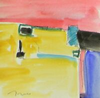 JOSE TRUJILLO ORIGINAL Watercolor Painting MODERN ART ABSTRACT EXPRESSIONISM