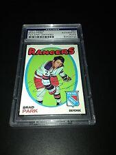 Brad Park Signed 1971-72 Topps New York Rangers Card PSA Slabbed #83428720