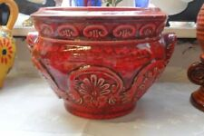 Red Earthenware Decorative Date-Lined Ceramics