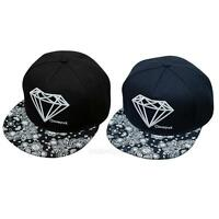 Fashion Unisex Men Women Diamond Snapback Adjustable Baseball Cap Hip Hop hats