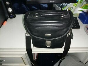 e-system middle size leather camera bag