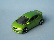 Matchbox honda civic type r vert métallique hot hatch jouet voiture modèle 67mm de long