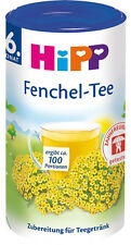 HiPP Baby Tea: FENNEL -ORGANIC  -Made in Germany- 100 servings