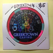 Casino chip / Token ~ $5 MILLENNIUM  GREEKTOWN CASINO