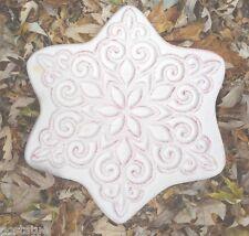 Ornament Christmas star plastic mold concrete plaster casting reusable