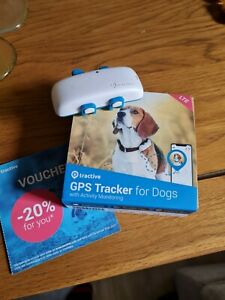 Tractive dog gps tracker LTE live tracking, location,waterproof, USED ONLY TWICE