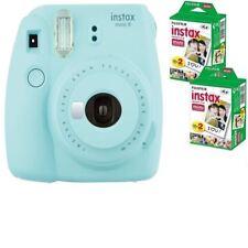 Bundle: Fuji Instax Mini 9 Ice Blue Instant Film Camera + 40 Shots