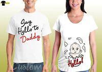 Couple Maternity Shirts Pregnancy Baby Coming Soon Matching Shirt Love Maternity