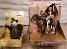 Schleich fantasy action figures Surah Shadow Elf Zauberer wizard