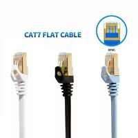 3FT 3feet CAT7 RJ45 Network Flat Ethernet Patch Cable Cord Xbox One PS4 Modem US