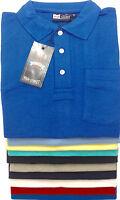 Mens Plain Polo Shirt Pocket Pique T Shirt Short Sleeve 9 Colours Small upto 6XL