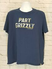 Life Is Good Part Grizzly T-shirt Mens Large Smooth Tee Bear Outdoor EUC A01