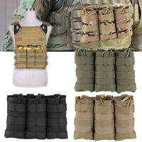 Tactical MOLLE Triple Magazine Pouch Mag Pouch Airsoft Holster Bag Anti-dust SR