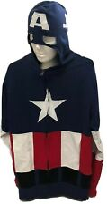 Marvel Comics Captain America Masked Full-Zip Hoodie Sweatshirt: Mens Large