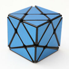 Blue brushed metallic Turbo master Skewb Magic King Kong Axis Cube Twist Puzzle