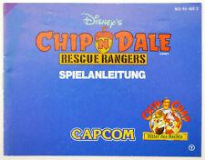 Chip n Dale Rescue Rangers Anleitung Handbuch Manual Nintendo NES | NES-RU-NOE-2