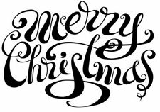 Christmas - Merry Christmas #1 Unmounted Clear Stamp Approx 60x43mm