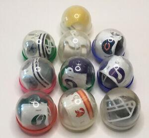 11 Vintage Gumball NFL Vending Machine Plastic Football Helmets AA 80's/90's