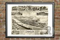 Old Map of Dawson, PA from 1902 - Vintage Pennsylvania Art, Historic Decor