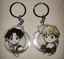 Killing Stalking Double Sided Acrylic Charm Keychain Set Oh Sangwoo & Yoon Bum