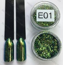 Chameleon Flakes Nail Mirror Effect Multi Chrome for nail varnish E-01