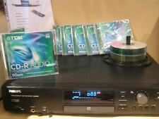 Philips CD Recorder CDR880 mit 6 TDK Rohlingen CDR Audio