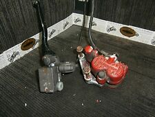Honda NSR125 RR foxeye 97 Front caliper & mount bracket with line