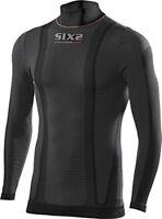 six2 CARBONE Couche de base sous vêtement haut chaud manches longues noir - XL