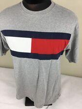 Vintage Tommy Hilfiger Crew Tee Shirt Short Sleeve FLAG Colorblock Men XS - S