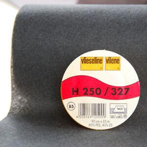 0,5m Freudenberg H250 schwarz Vlieseline Vilene Bügeleinlage 90cm br.