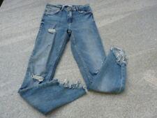 Jeans von ZARA Trafaluc mit Fransen schräges Beinende stretchig Gr. 34