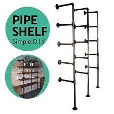 Industrial Ceiling Wall Shelf Iron Pipe Vintage Hang Bracket Shelves DIY 3pcs