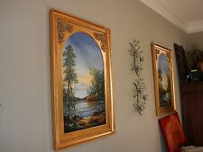 Beautiful Pair Oil Paintings-from Neiman Marcus-Signed by Artist