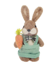 Happy Easter Decor Felt Bunny with Bow Tie and Carrot New with Tag