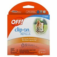 OFF!® Clip-On™ Mosquito Repellent Refills, 2 count package - up to 12 hours each