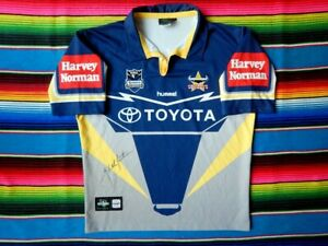 ✺Signed✺ JOHNATHAN THURSTON Cowboys NRL Jersey PROOF COA 2021 North Queensland