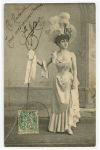 c 1904 Glamour Glamor BEAUTIFUL YOUNG LADY French photogravure photo postcard