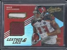 MIKE EVANS 2014 ABSOLUTE LEATHER & LACE ROOKIE FOOTBALL + LACES PATCH RC #D /43