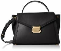 Michael Kors Whitney Medium Top Handle Satchel Bag, Black $298