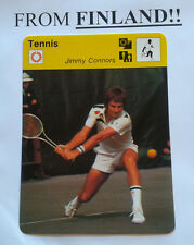 JIMMY CONNORS 1977 FINNISH Sportscaster card Tennis - From Finland