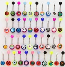 5 Logo Belly Button Rings WHOLESALE Navel Body Jewelry
